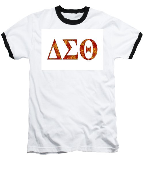 Baseball T-Shirt featuring the digital art Delta Sigma Theta - White by Stephen Younts