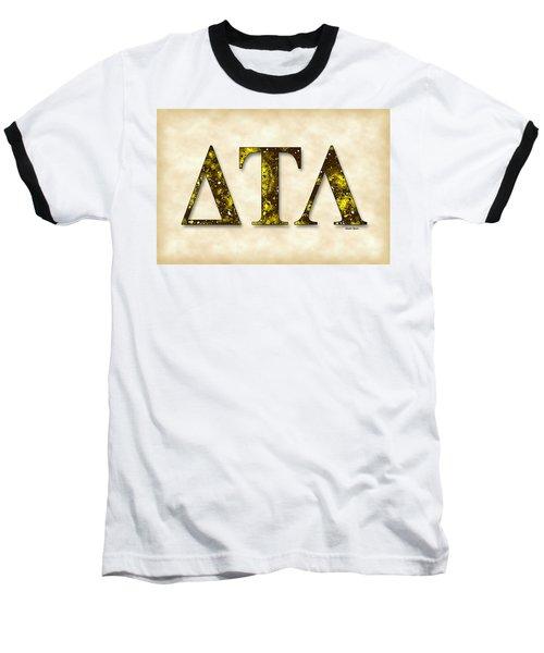 Delta Tau Lambda - Parchment Baseball T-Shirt