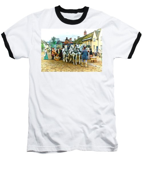 Baseball T-Shirt featuring the photograph Departing Cranford by Paul Gulliver