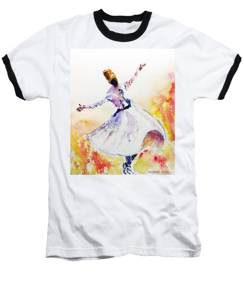 Whirling Sufi Dervish Baseball T-Shirt