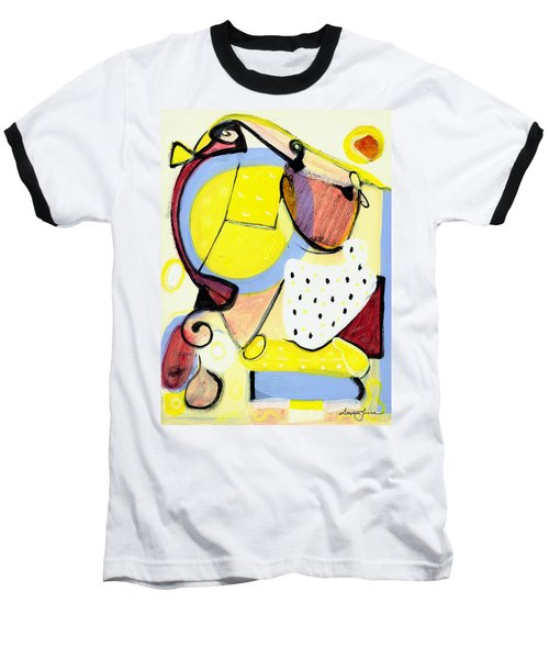 Baseball T-Shirt featuring the painting Desert Bloom by Stephen Lucas