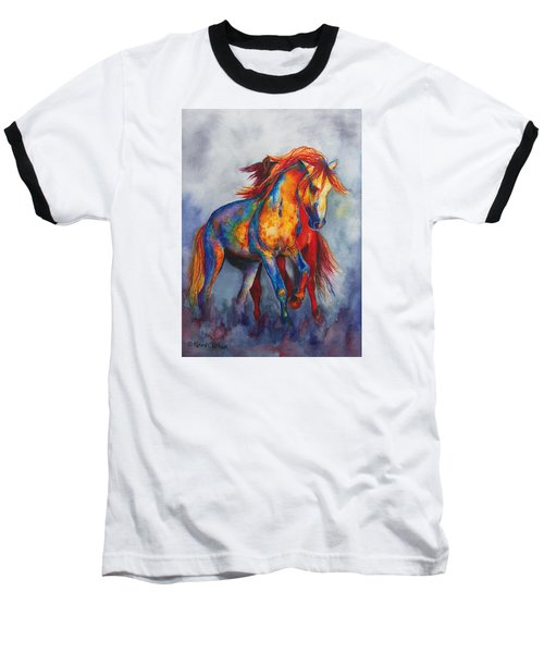 Baseball T-Shirt featuring the painting Desert Dance by Karen Kennedy Chatham