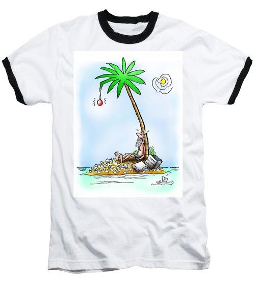 Desert Island Christmas Baseball T-Shirt