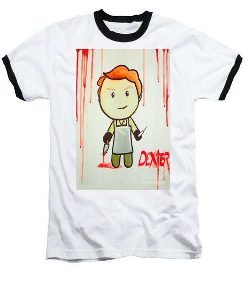 Baseball T-Shirt featuring the painting Dexter by Marisela Mungia