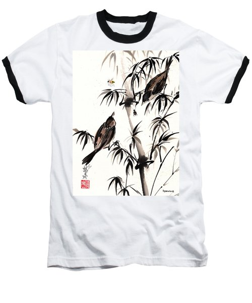 Baseball T-Shirt featuring the painting Dibs by Bill Searle