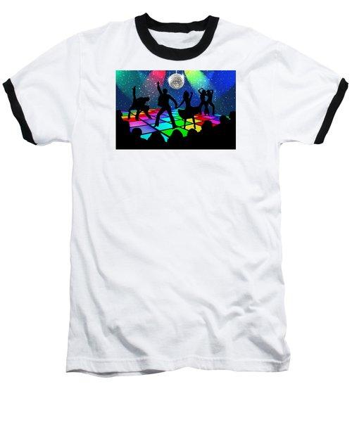 Disco Fever Baseball T-Shirt by Nina Bradica