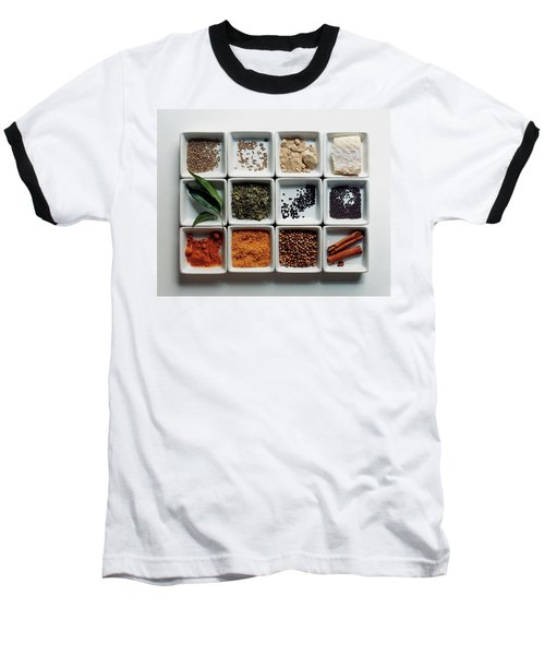 Dishes Of Spices Baseball T-Shirt
