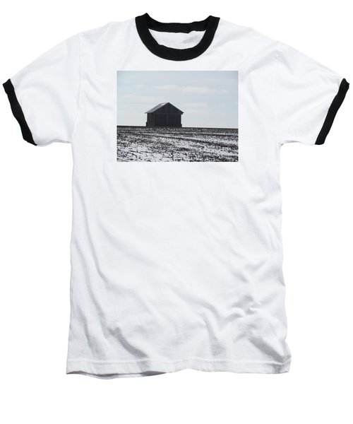 Baseball T-Shirt featuring the photograph Distant Local Train Depot by Tina M Wenger