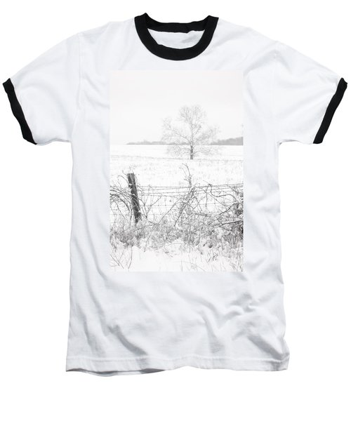 Distant Tree Baseball T-Shirt