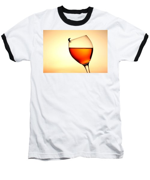 Diving In Red Wine Little People On Food Baseball T-Shirt by Paul Ge