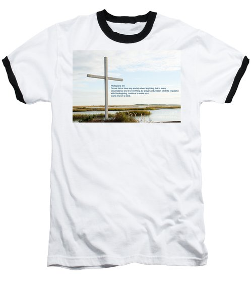 Belin Church Cross At Murrells Inlet With Bible Verse Baseball T-Shirt