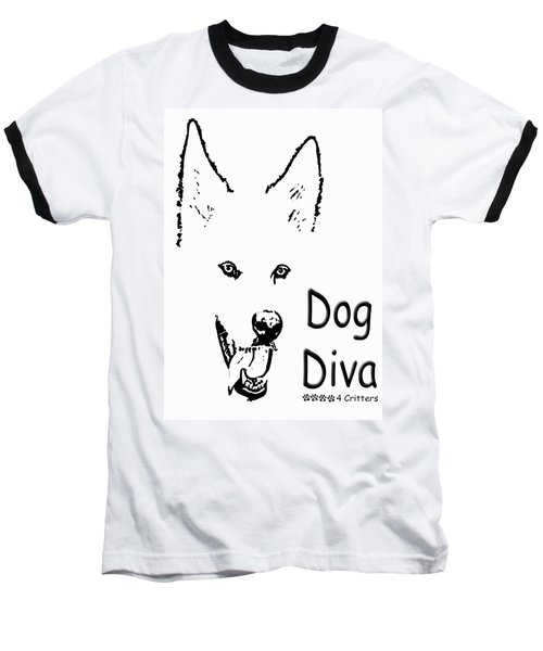 Dog Diva Baseball T-Shirt by Robyn Stacey