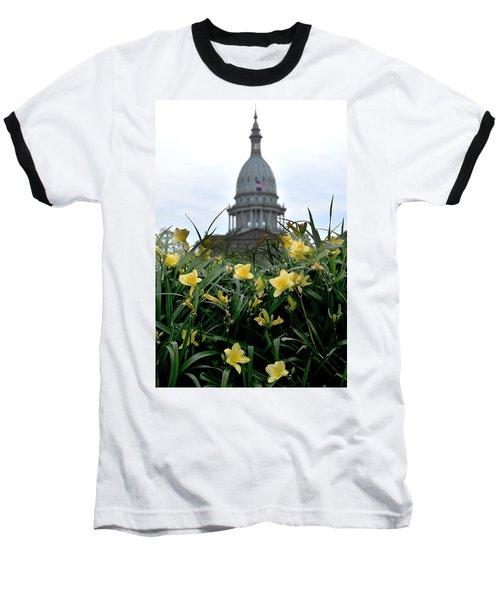 Dome Through The Daffodils Baseball T-Shirt