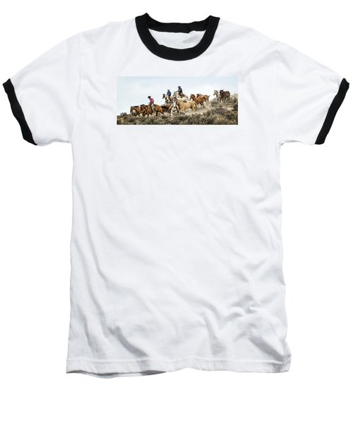Baseball T-Shirt featuring the photograph Down The Hill by Joan Davis