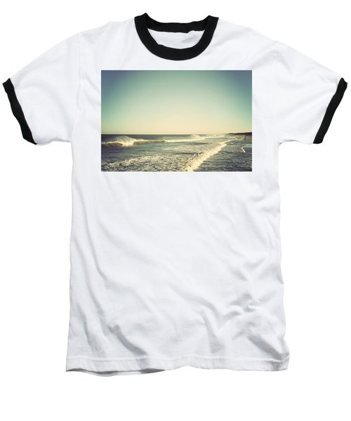 Down The Shore - Seaside Heights Jersey Shore Vintage Baseball T-Shirt by Terry DeLuco
