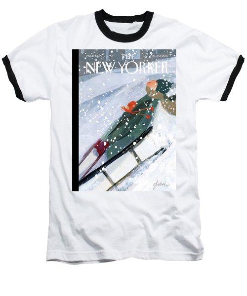 Downhill Racers Baseball T-Shirt