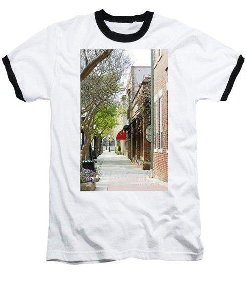 Downtown Aiken South Carolina Baseball T-Shirt by Andrea Anderegg
