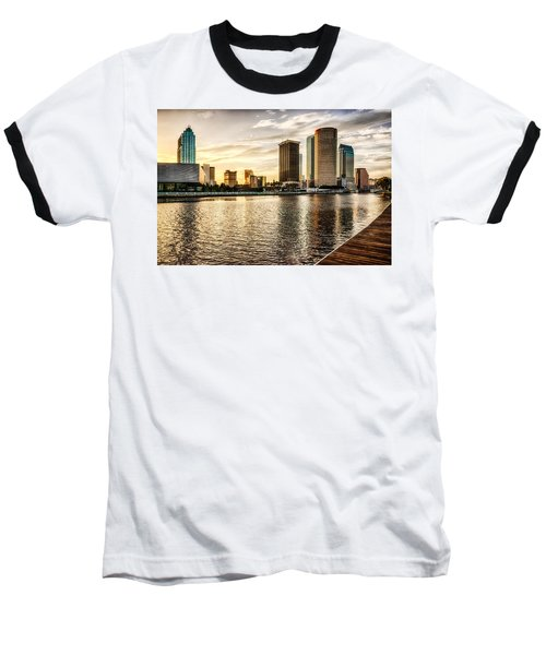 Downtown Tampa At Sunrise Baseball T-Shirt
