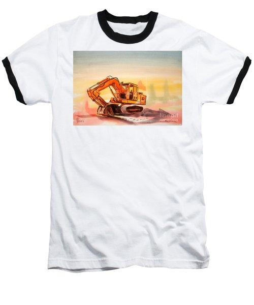 Dozer In Watercolor  Baseball T-Shirt
