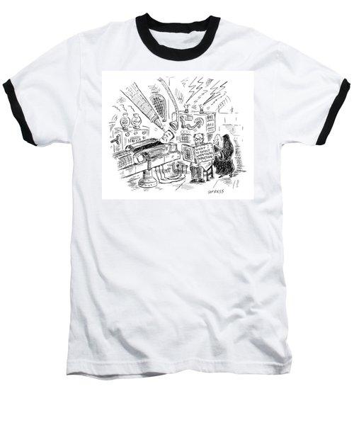 Dr. Frankenstein Reading A Pregnancy Book Baseball T-Shirt
