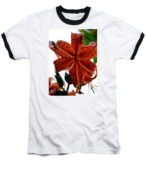 Dragon Flower Baseball T-Shirt