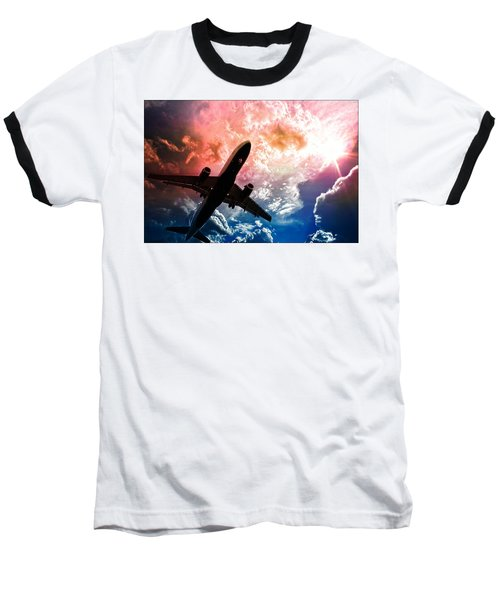Dream Flight Baseball T-Shirt by Aaron Berg
