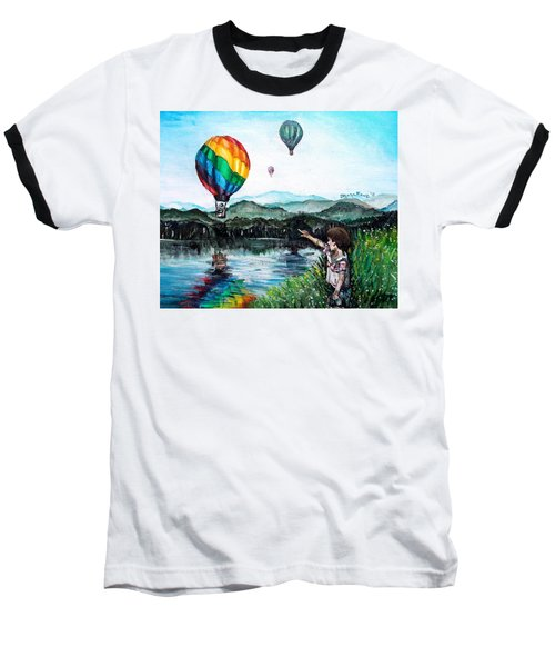 Baseball T-Shirt featuring the painting Dreams Do Come True by Shana Rowe Jackson