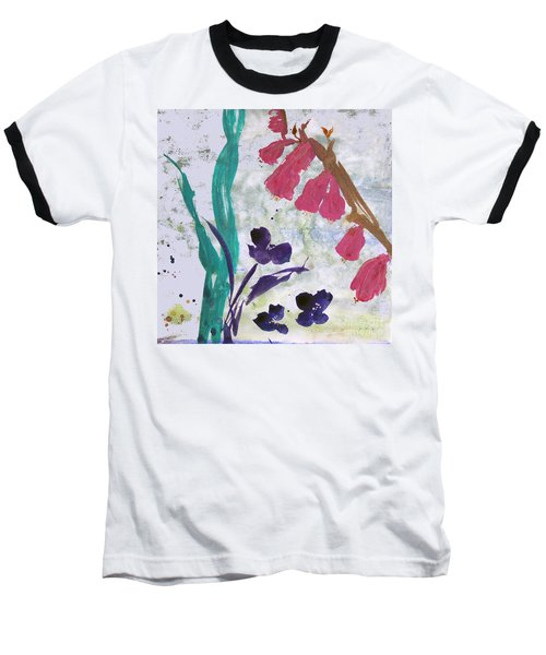 Dreamy Day Flowers Baseball T-Shirt