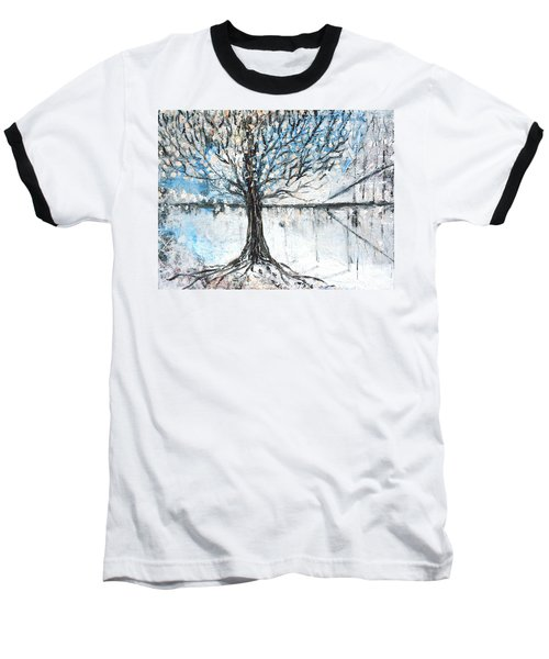 Baseball T-Shirt featuring the painting Dreamy Spring by Evelina Popilian