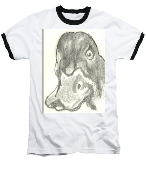 Duck Bill In Pencil Baseball T-Shirt