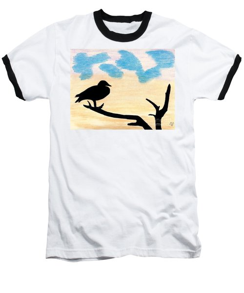 Baseball T-Shirt featuring the drawing Duck Sunset by D Hackett
