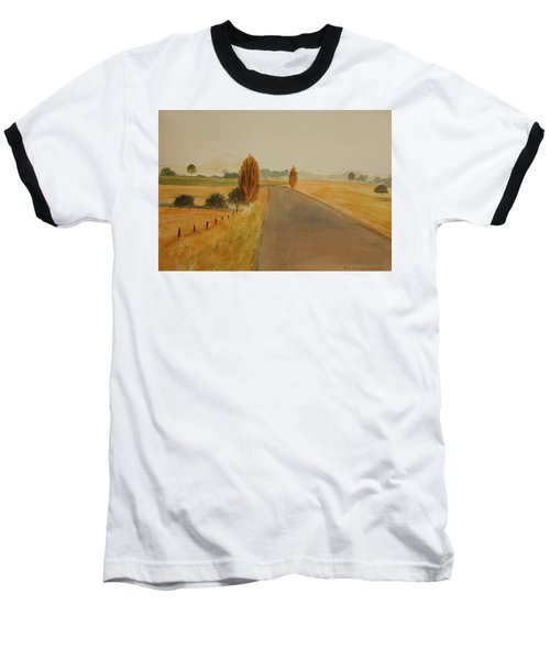 Baseball T-Shirt featuring the painting Dungog Area Nsw Australia by Tim Mullaney