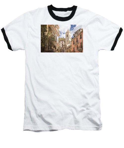 Duomo Bell Tower Of Manarola Baseball T-Shirt