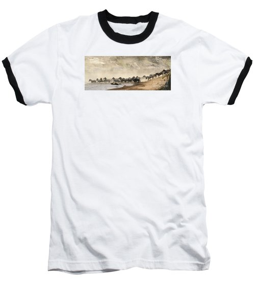 Baseball T-Shirt featuring the photograph Dusty Crossing by Liz Leyden