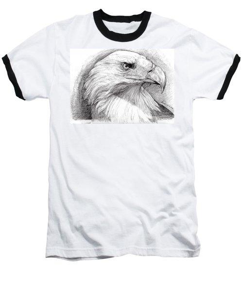 Eagle Portrait Baseball T-Shirt