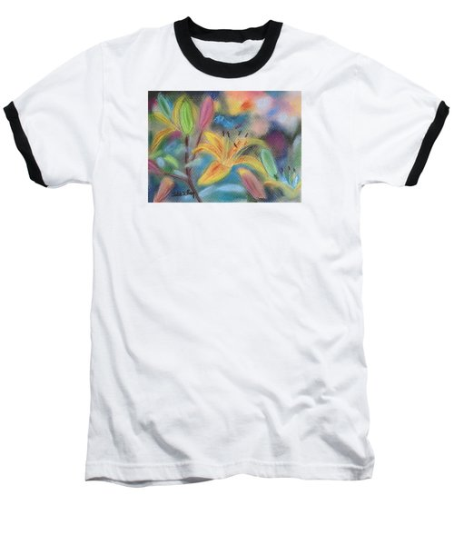 Early Arrival Lily Baseball T-Shirt by Julie Brugh Riffey