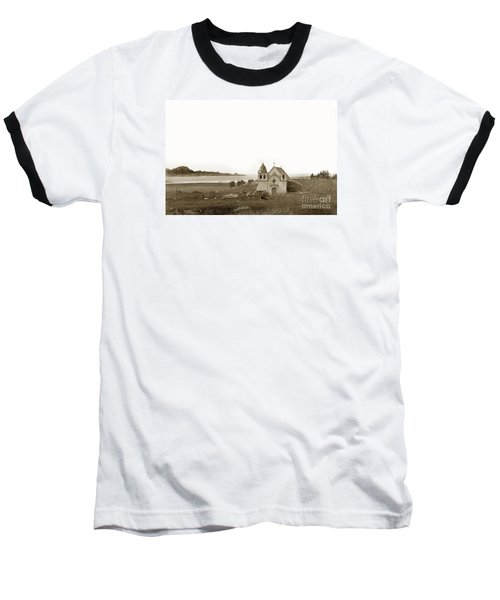 Early Carmel Mission And Point Lobos California Circa 1884 Baseball T-Shirt by California Views Mr Pat Hathaway Archives