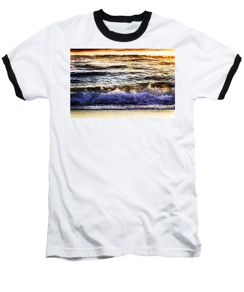 Early Morning Frothy Waves Baseball T-Shirt by Amyn Nasser