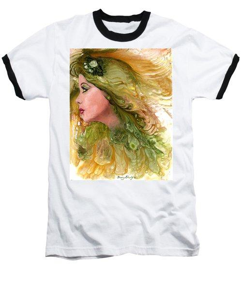 Earth Maiden Baseball T-Shirt by Sherry Shipley
