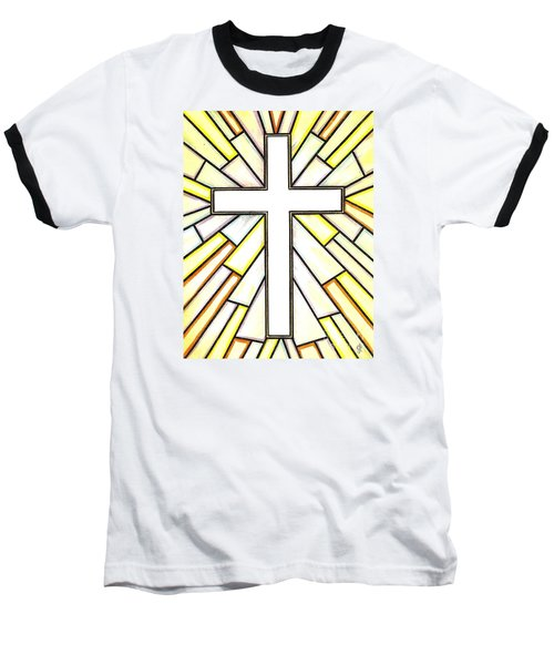 Baseball T-Shirt featuring the painting Easter Cross 3 by Jim Harris