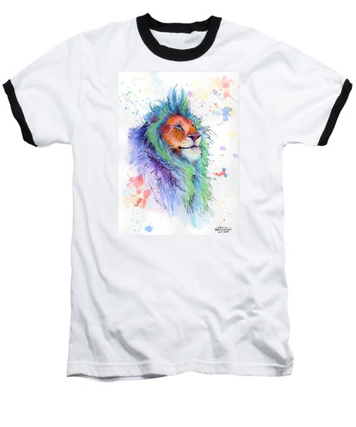 Easter Lion Baseball T-Shirt by Arleana Holtzmann
