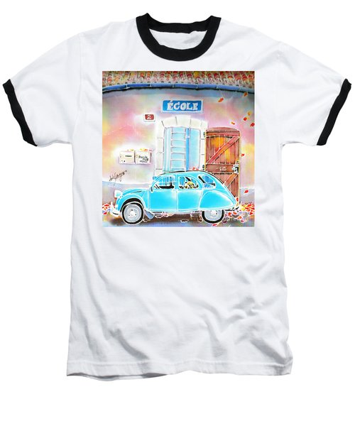 Baseball T-Shirt featuring the painting Ecole by Hisayo Ohta