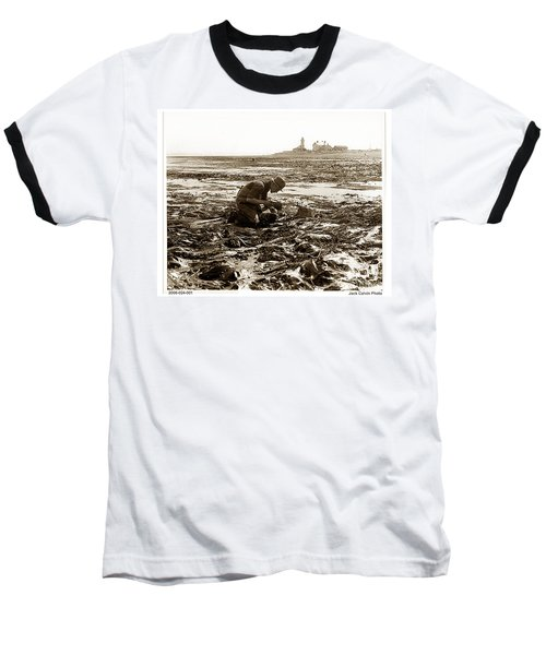 Ed Ricketts At Point Wilson Lighthouse In Port Townsend Wa July 1930 Baseball T-Shirt