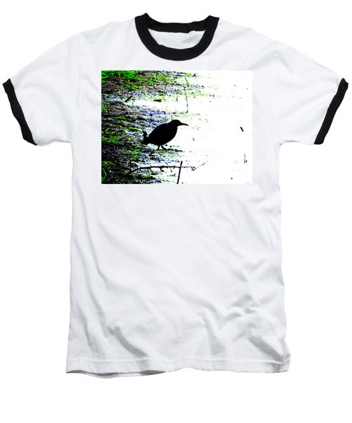 Edgar Allan Poe's Raven On The Edge Of Oblivion By Ron Tackett Baseball T-Shirt