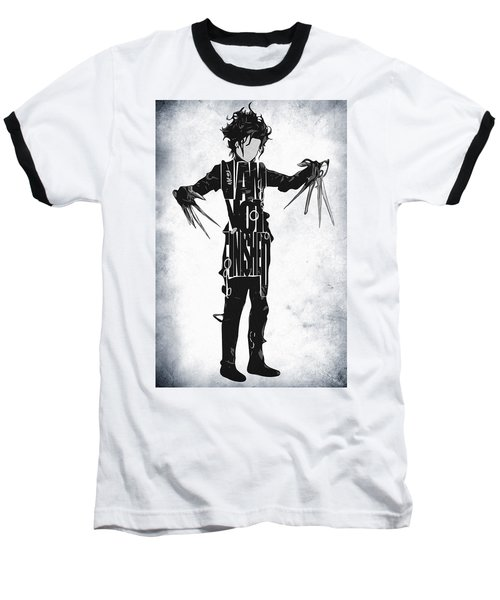 Edward Scissorhands - Johnny Depp Baseball T-Shirt