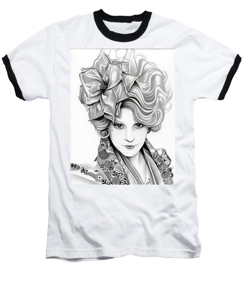 Effie Trinket - The Hunger Games Baseball T-Shirt by Fred Larucci