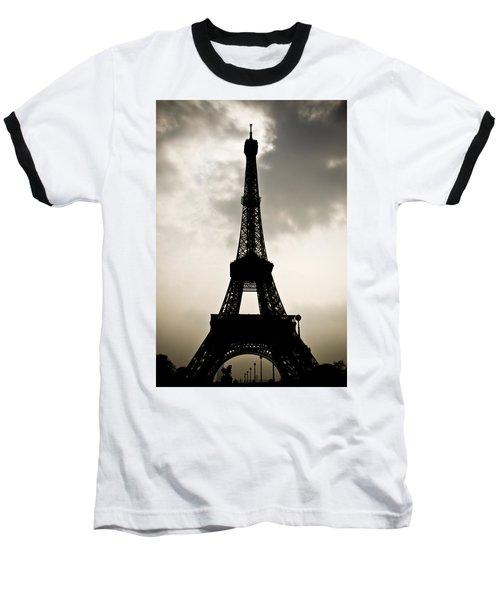 Eiffel Tower Silhouette Baseball T-Shirt