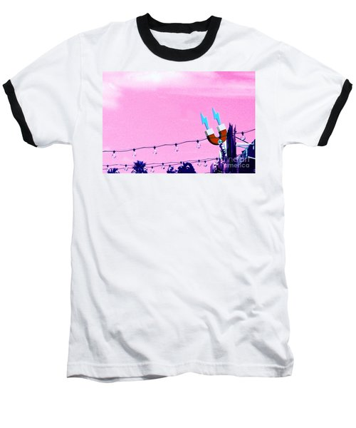 Electric Pink Baseball T-Shirt by Valerie Reeves