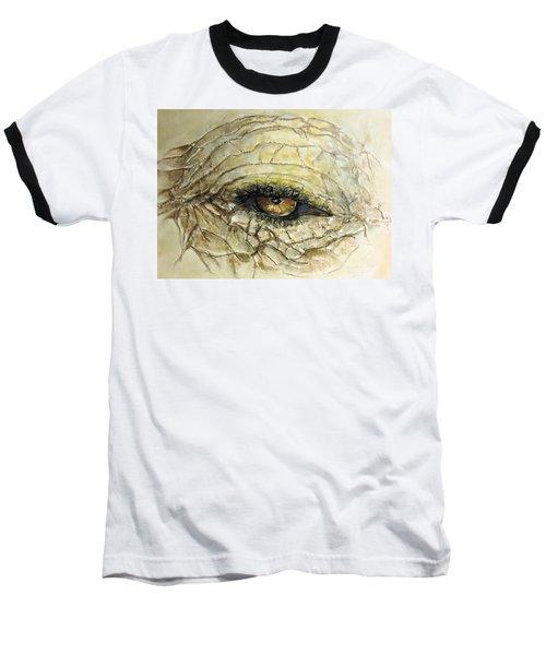 Baseball T-Shirt featuring the painting Elephant Eye by Bernadette Krupa