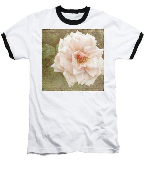 Elie Beauvillain Rose Textured Art Baseball T-Shirt